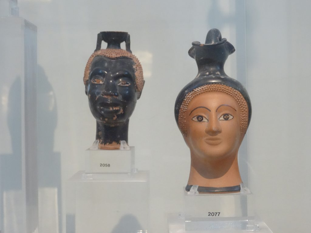 Plastic vases from the National Archaeological Museum in Athens