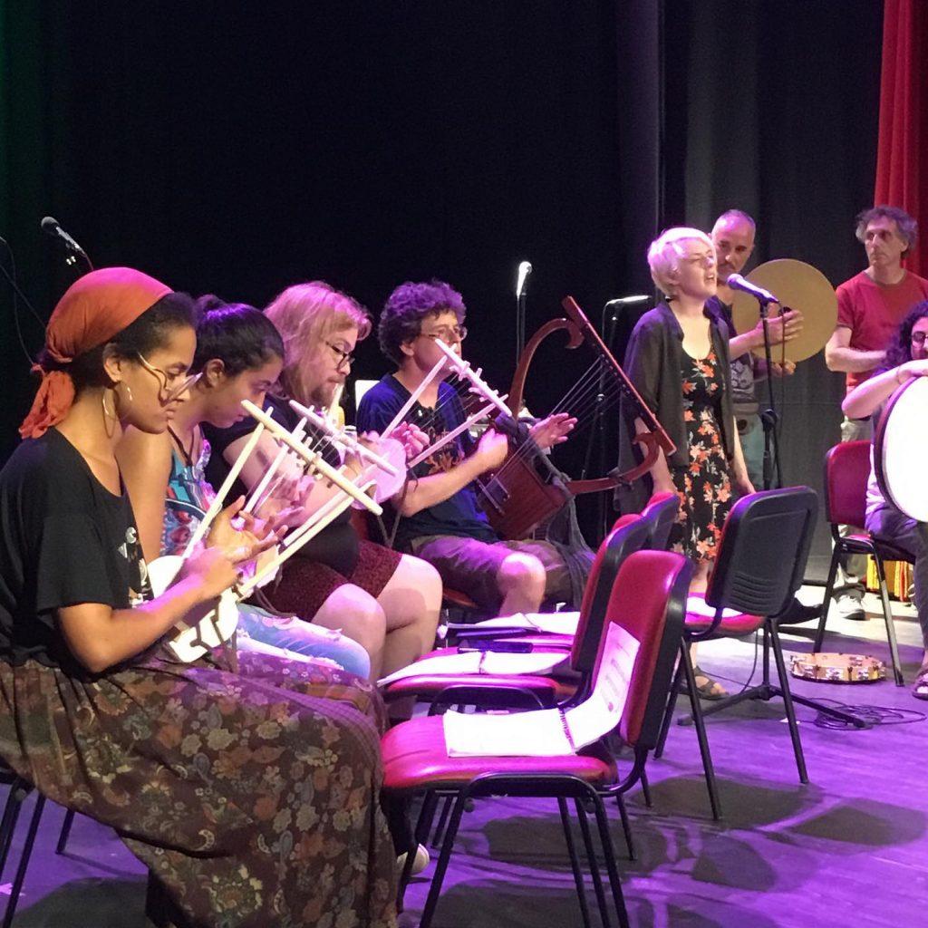 Vanessa Stovall at Euterpe Ancient Music School in Summer 2019 in Tarquinia