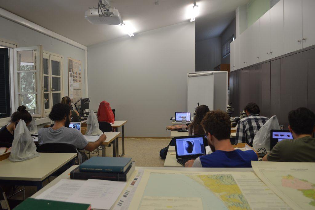 The classroom at the BSA where I took my ceramic petrology class